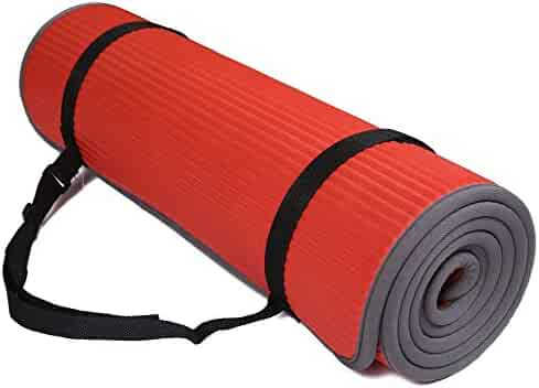 BalanceFrom GoFit All-Purpose 2/5-Inch (10mm) Extra Thick High Density Anti-Slip Exercise Pilates Yoga Mat with Carrying Strap