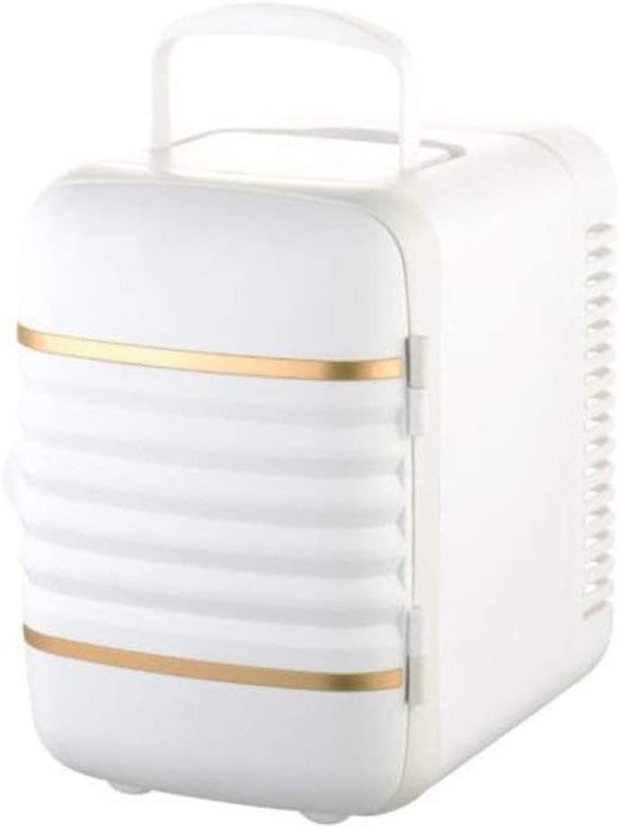 Atten レトロカー冷蔵庫ポータブル熱電クーラーとウォーマーミニホーム冷蔵庫屋外ベッドルーム、オフィスや寮 (Color : White)