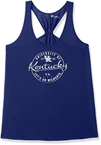 - Champion NCAA Kentucky Wildcats Adult Women NCAA Women's Eco Swing Tank,Medium,Royal