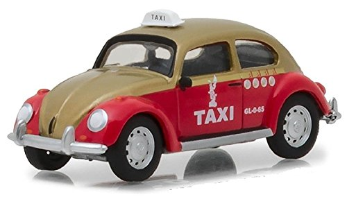 Greenlight 1:64 Club V-Dub Series 6 Volkswagen Beetle City, Mexico Taxi Cab Diecast Vehicle (Club Cab Models)