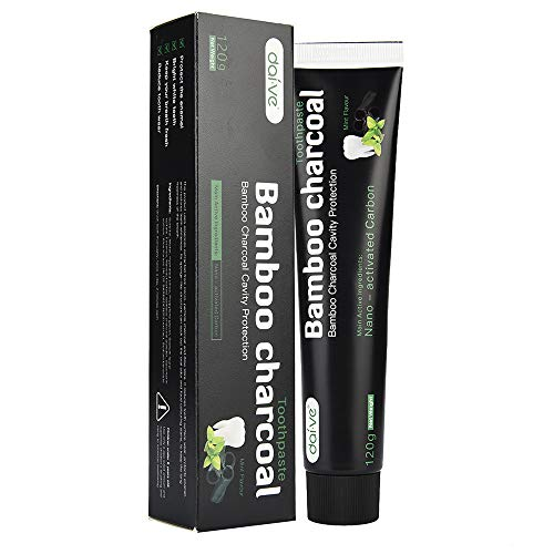 Orcbee  _Activated Charcoal Teeth Whitening Toothpaste Natural Black Mint Flavor Herbal