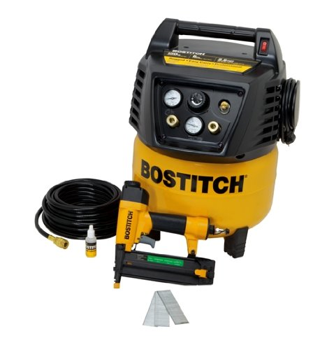 BOSTITCH U/BTFP12238 Factory Reconditioned 1-Tool and Compressor Combo Kit 1-Tool and Compressor Combo Kit