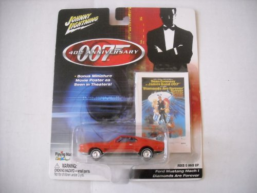 Johnny Lightning James Bond 007 40th Anniversary Diamonds Are Forever Ford Mustang Mach (Ford Mustang 40th Anniversary)