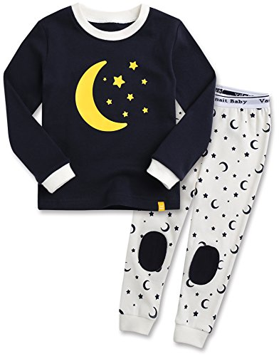 Ultimate Cotton Garment (Vaenait baby Kids Boys 100% Cotton Sleepwear Pajamas 2pcs Set Good Night Black XL)
