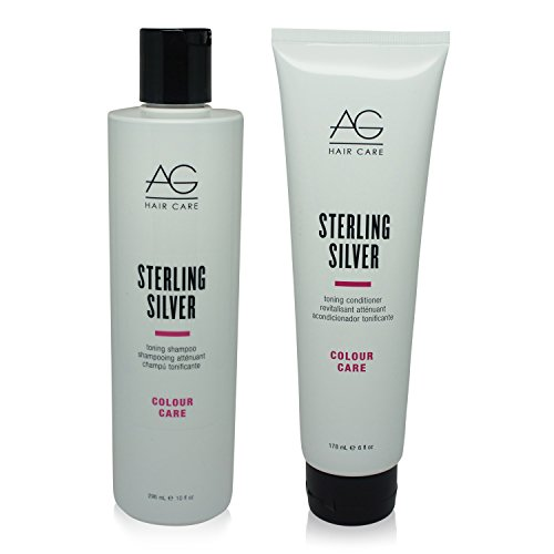 "Price comparison product image AG Hair Colour Care Sterling Silver Toning Shampoo 10oz & Conditioner 6oz Duo ""Set"""