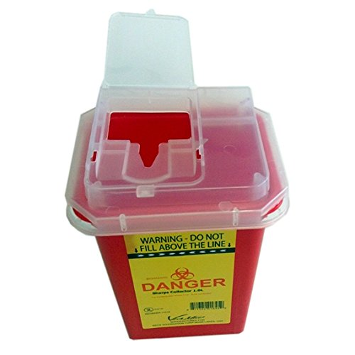 Sharps Container 7.0Litres, Red - Yellow Color. (Red) from VIAMED