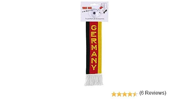 Amazon.es: AutoScheich® Camiones Auto Mini - Alemania Mini - Banderín ventosa Espejo Decoración