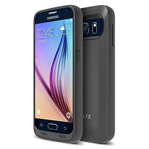 - Galaxy S6 Battery Case, ZVOLTZ ZT6 Galaxy S6 Battery Case (5.1 Inches) [1 Year WARRANTY] - [Champagne Black/Black] - 3500mAh [Quick-charge 2.0 Charge thru Compatible] Charging Case Backup Battery Pack