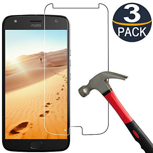 [3 Pack] Moto X4 Screen Protector, Moto X4 Tempered Glass [9H Hardness] [Ultra Clear] [Bubble Free] HD Tempered Glass Screen Protector for Motorola X 4th Generation