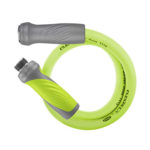 Flexzilla Garden Lead-in Hose with SwivelGrip, 5/8 in. x 3 ft., Heavy Duty, Lightweight, Drinking Water Safe - HFZG503YWS