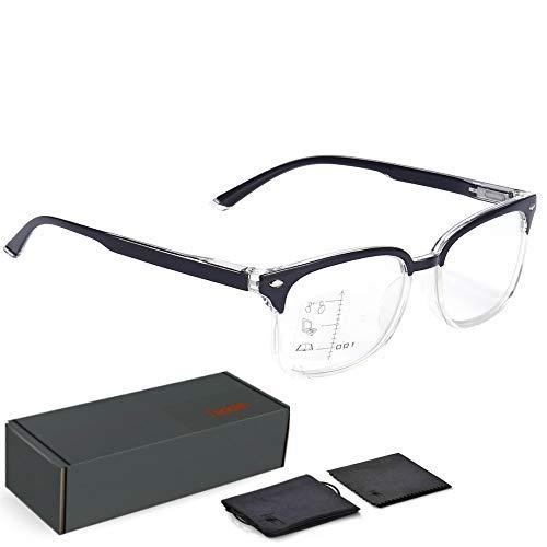 9572ba50c3 Teddith Blue Light Blocking Glasses Progressive Multifocal Reading Glasses  Anti Glare Bifocal Trifocal Computer Gaming Reduce Eye Strain Better Sleep  for ...
