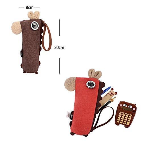 Cartoon-Pferd-Geschenk-Briefpapier-Bleistift-Kasten-Feder-Beutel-Beutel- Kaffee