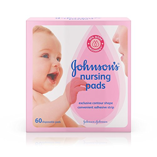 Johnson's Disposable Nursing Pads with Natural Cotton and Natural Contour Shape, 60 ct