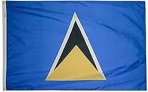 ST. Lucía–5'x 8' Nylon bandera de mundo