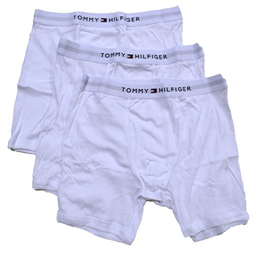 Tommy Hilfiger Mens Knit Boxer (Tommy Hilfiger Mens Classic Tommy Boxer Briefs 3 Pack (White, L (36-38)))