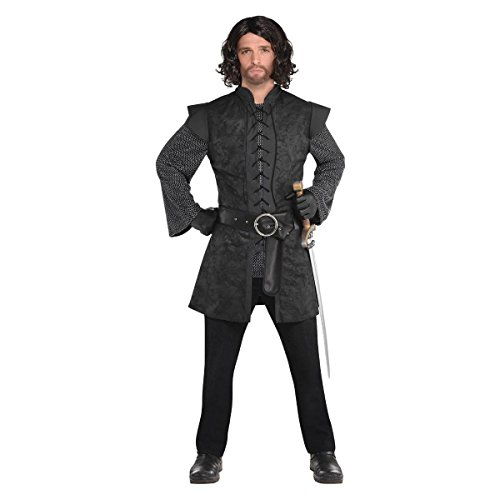 AMSCAN Black Warrior Tunic Halloween Costume Accessory