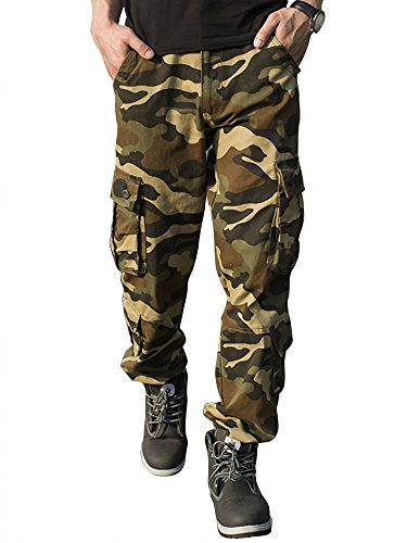 Homme Pantalon Cargo Taipove 1 Multi Coton Poches En Camouflage wEzAd1q