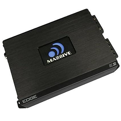 Massive Audio E2 - Car Audio 1,600 Watt Nano Edge Series, Monoblock Car Amplifier,