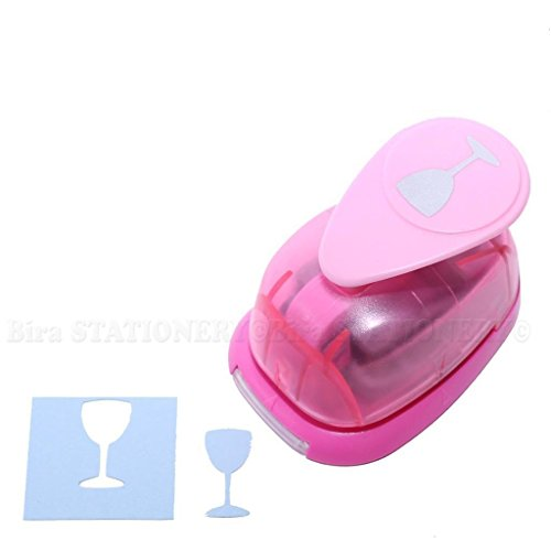 Bira 1 inch Wine Glass Lever Action Craft Punch for Paper Crafting Scrapbooking Cards Arts