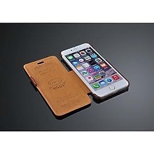 TL Fashion? caso de la cubierta del tir¨®n del cuero ultra delgado de lujo de la PU con la caja de regalo para iPhone 6 Plus (Negro)