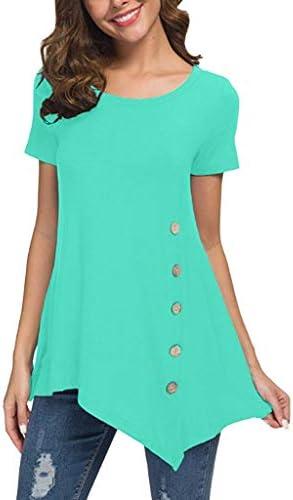 [해외]Coupondeal Women`s T-Shirt Tops Short Sleeve O-Neck A-Line Tunic Blouse Summer Loose Tee ShirtsButton / Coupondeal Women`s T-Shirt Tops Short Sleeve O-Neck A-Line Tunic Blouse Summer Loose Tee ShirtsButton