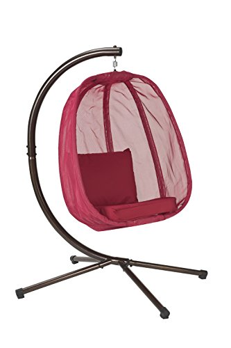 Flower House FHEC100-RD Egg Chair, Red (Outdoor Egg Chair)
