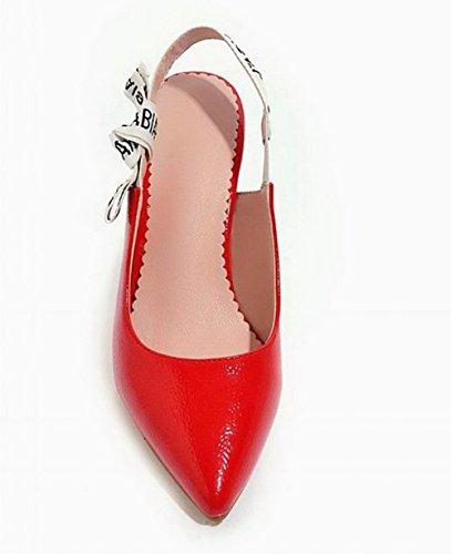 VogueZone009 Donna Medio CCALLP012870 Luccichio Tirare Rosso Assortito Colore Tacco Sandali rrv1wqdx