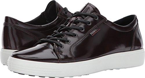 Patent Mens Sneakers (ECCO Men's Soft 7 Premium Tie Fashion Sneaker, Bordeaux Patent, 44 M EU/10-10.5 D(M) US)
