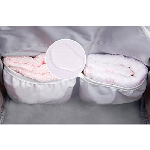 Mochila para pañales para bebé cuidado, pañal bolso cambiador pañales mochila de viaje, multifunción pañal bolsas para el cuidado del bebé, gran capacidad, elegante y duradero rosa rosa negro