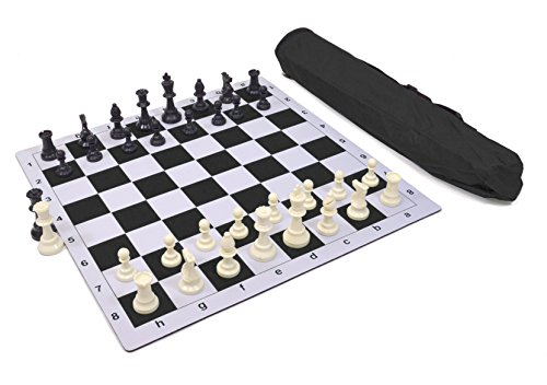 - Wholesale Chess Triple Weighted Pieces and Mousepad Board Chess Set (Black)