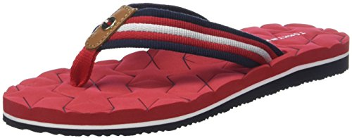 Red 611 Rouge Sandal Beach Femme Hilfiger Low Tongs Tommy tango Comfort AzTUag1