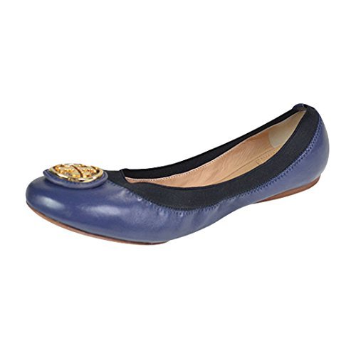 Tory Burch Caroline 2 Mestico/Veg Leather Elastic Flats Clare Blue/Black  Size 8.5 - Buy Online in UAE. | Apparel Products in the UAE - See Prices,  ...