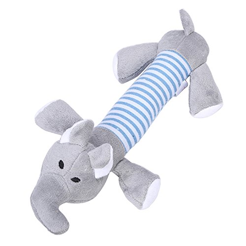 Coolrunner Dog Toys Pet Puppy Chew Squeaker Squeaky Plush Sound Duck Pig & Elephant Toys (Elephant)