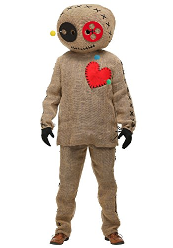 Burlap Pinned Voodoo Doll Plus Size Adult Costume 2X Tan]()