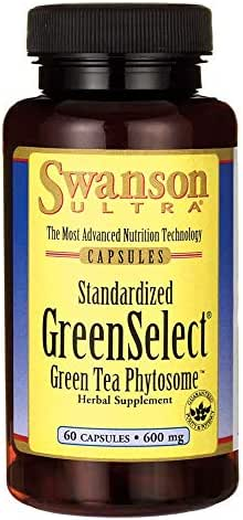 Swanson Greenselect Green Tea Phytosome 600 Milligrams 60 Capsules