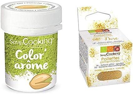 Colorante alimentario verde con sabor a pistacho 10 g + ...
