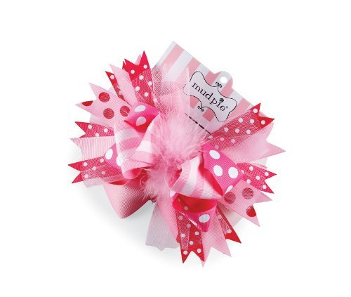 Little Girls Hot Pink Hair Bow by Mud Pie