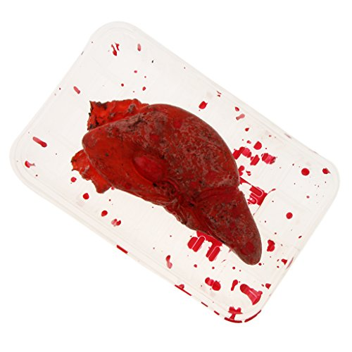Off Liver - D DOLITY Cut Off Liver Organ Body Parts Meal Box - Halloween Prop and Haunted House Decoration