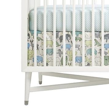 Amazon Com Dwellstudio Caravan Crib Skirt Caravan Baby