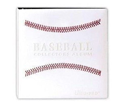 White Stitched Baseball Card Collectors Album 3 D Ring