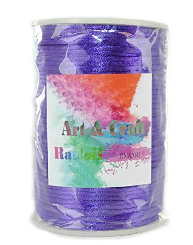 Rattail Satin Nylon Trim Cord Chinese Knot, 2 mm x 100 Yards (Purple)