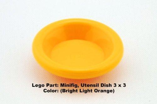 Lego Parts: Minifig, Utensil Dish 3 x 3 (Bright Light Orange)
