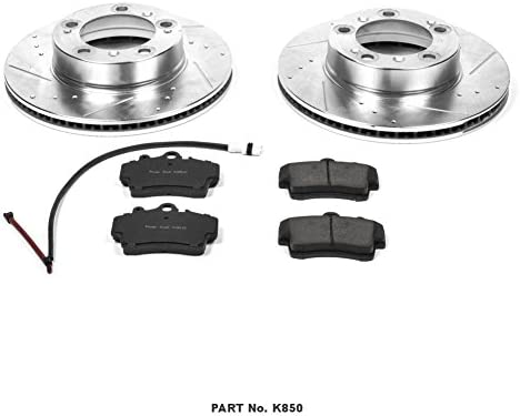 Power Stop K850 Front Brake Kit with Drilled//Slotted Brake Rotors and Z23 Evolution Ceramic Brake Pads