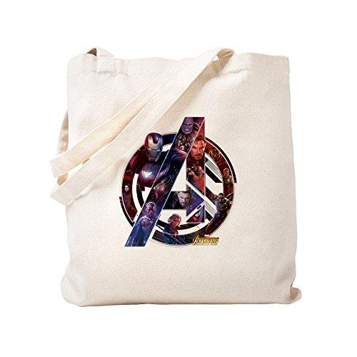 CafePress Avengers Infinity War Symbol Natural Canvas Tote Bag, Cloth Shopping -