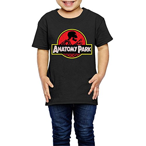 AK79 Children 2-6 Years Old Boys And Girls Rick Anatomy Park Morty T-shirt Black Size 2 Toddler