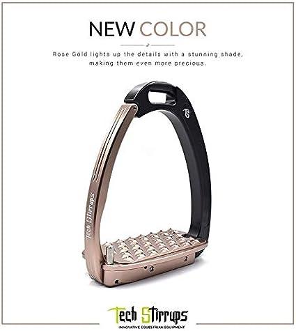 Black//Pink Tech Venice Adult Safety Stirrups
