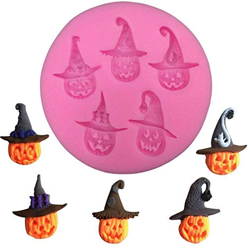 FantasyDay 2 Pack Halloween Witch Hat Silicone Cake Mold Chocolate Sugarcraft Decorating Fondant Tool for Your Soap, Mini Teacake, Fondant, Candy, Ice Cube, Candy, Cookie, Gummy and More -
