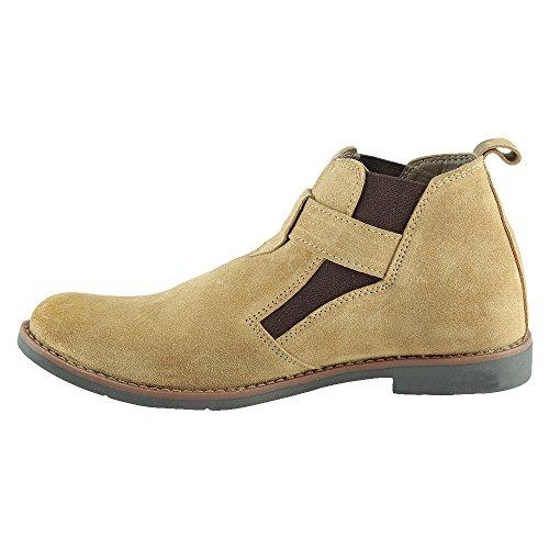 Mancini Men's Beige Leather Boots (450077702001) – 6 UK