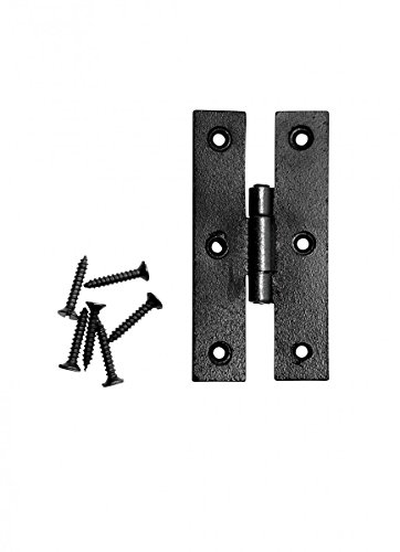 Cabinet Hinge Black Wrought Iron H Flush 3'' H | Renovator's (Ornamental Wrought Iron Gates)
