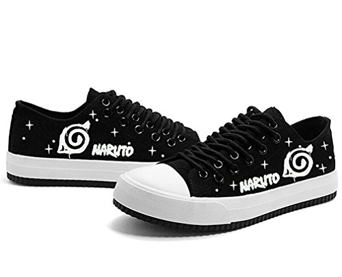 Bromeo Naruto Unisexe Toile Low-Top Sneaker Baskets Mode Chaussures Lumineux